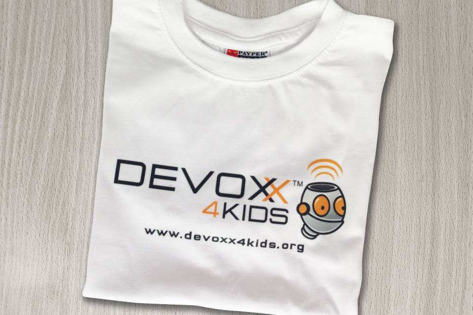 T-shirt stampata per Ated 4 Kids (Ated ICT Ticino)